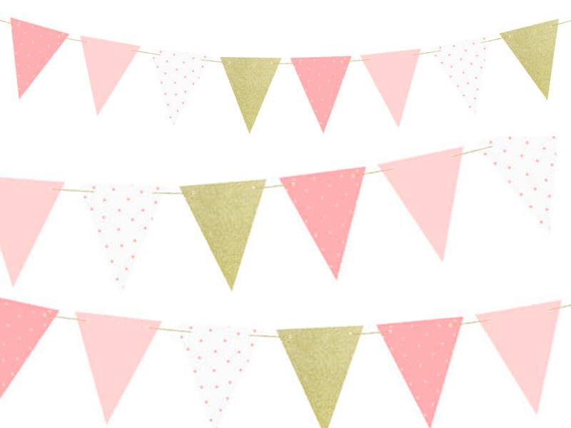 Guirnalda pastel party rosa