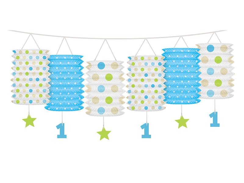 Guirnalda farolillos 1er cumpleaños azul