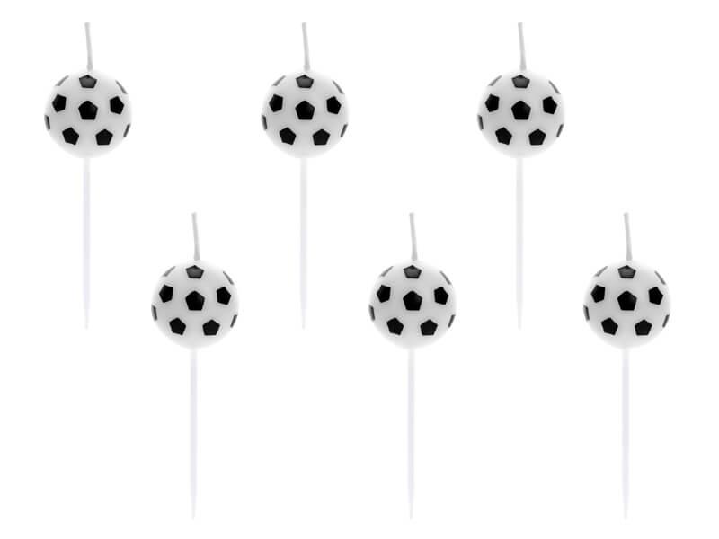 Velas de balón de fútbol 6 unidades