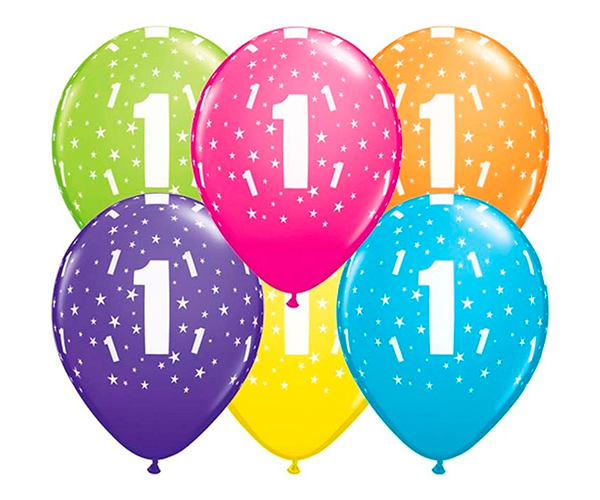 Globo 1 años Feliz Cumpleaños