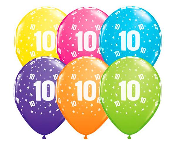 Globo 10 años Feliz Cumpleaños