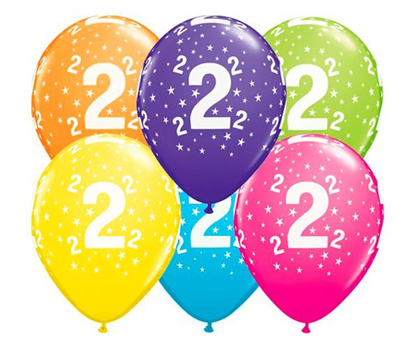 Globo 2 años Feliz Cumpleaños