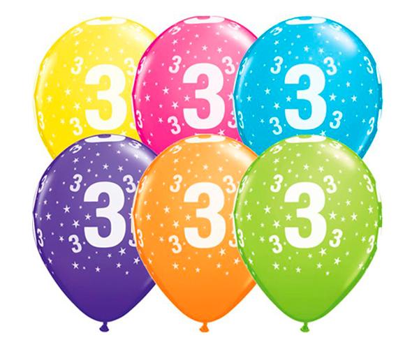 Globo 3 años Feliz Cumpleaños