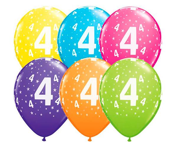 Globo 4 años Feliz Cumpleaños