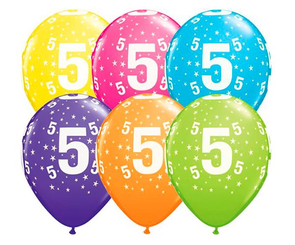 Globo 5 años Feliz Cumpleaños