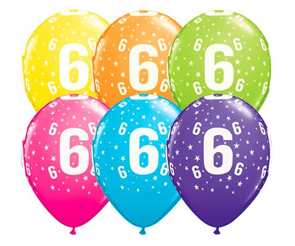 Globo 6 años Feliz Cumpleaños