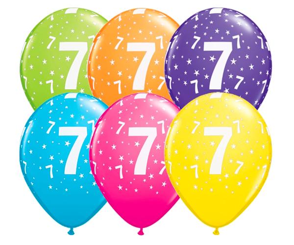 Globo 7 años Feliz Cumpleaños