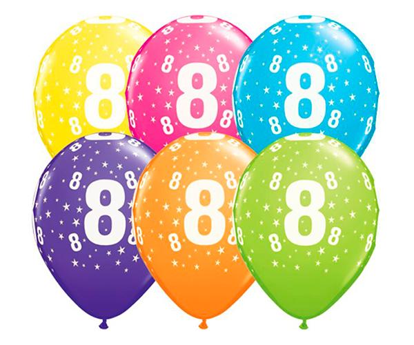 Globo 8 años Feliz Cumpleaños
