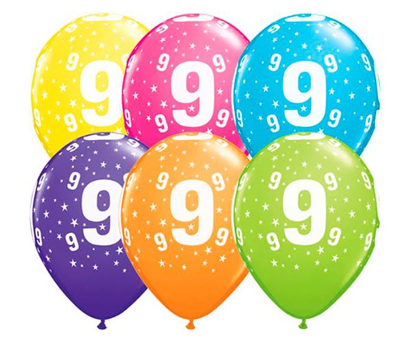 Globo 9 años Feliz Cumpleaños