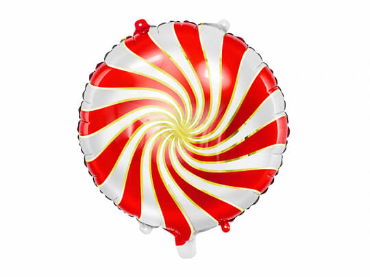 Globo metálico caramelo rojo