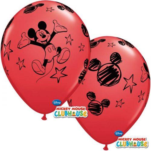 Globo Mickey Mouse Disney rojo