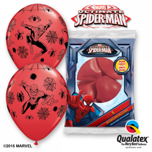 Globo Spiderman Marvel rojo