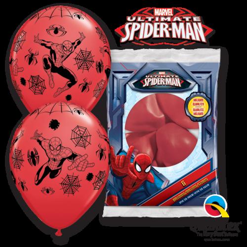 Globo Spiderman Marvel rojo