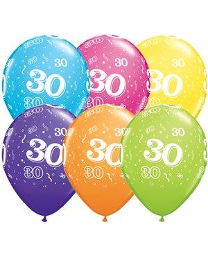 Globo 30 años Feliz Cumpleaños