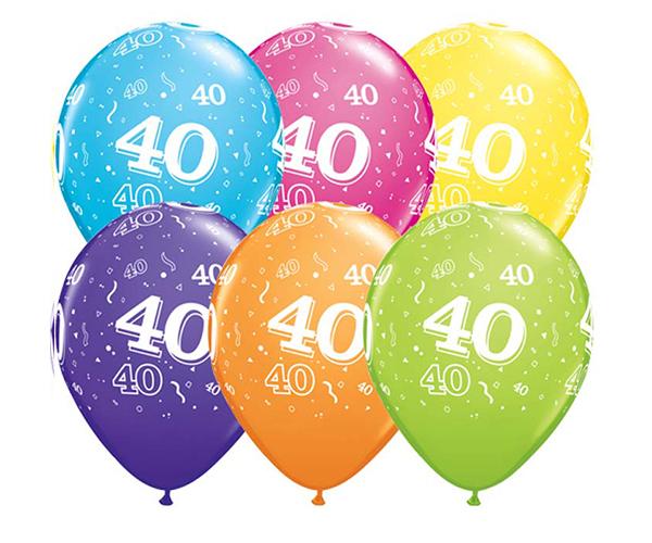 Globo 40 años Feliz Cumpleaños