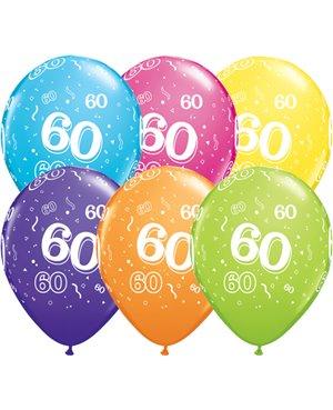 Globo 60 años Feliz Cumpleaños