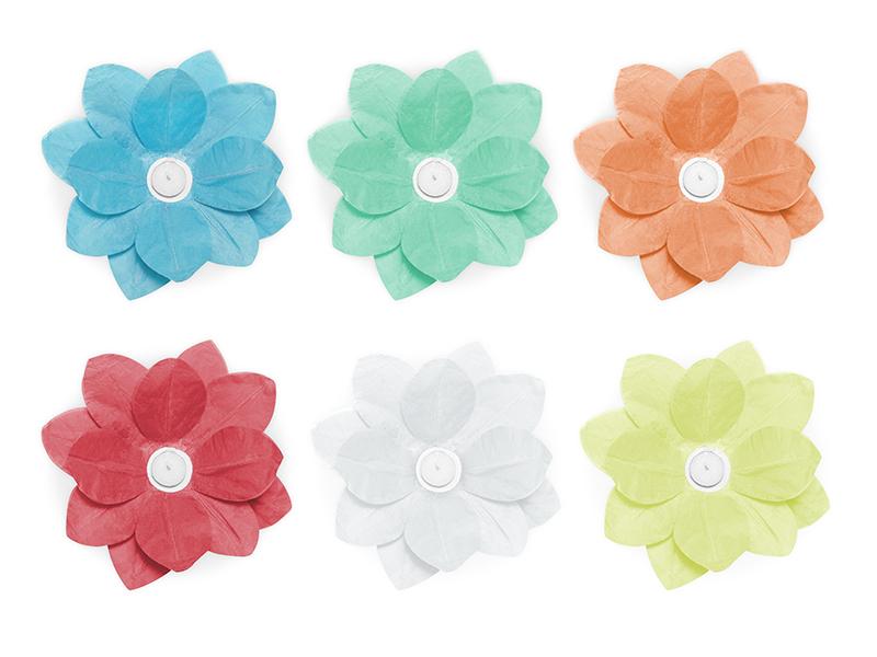 Flores flotantes de colores 29 cms.
