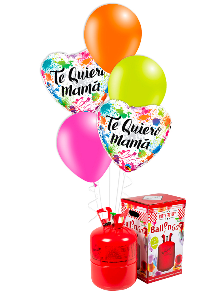 Bouquet de globos Te Quiero Mamá colores