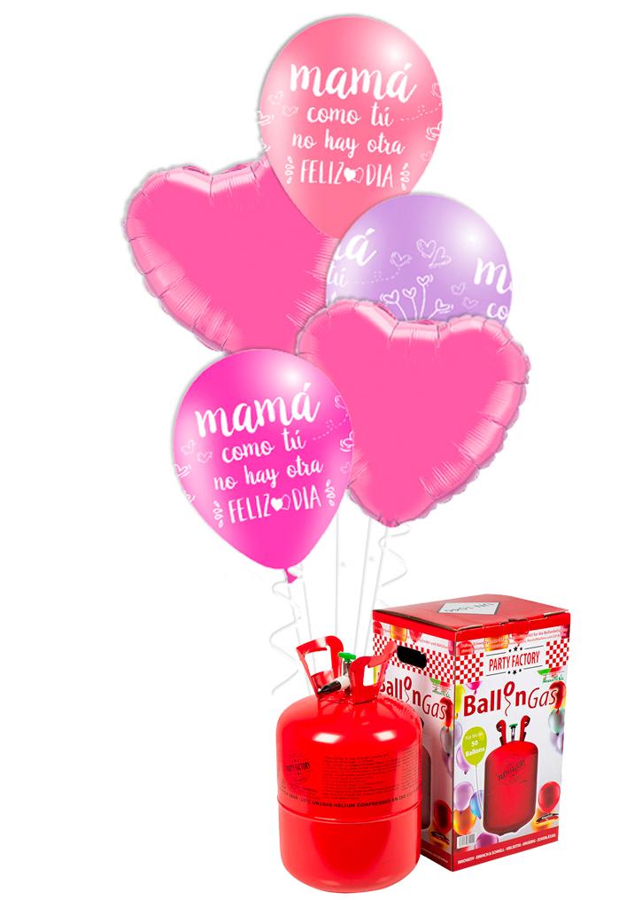 Helio + Bouquet Feliz día mamá rosa