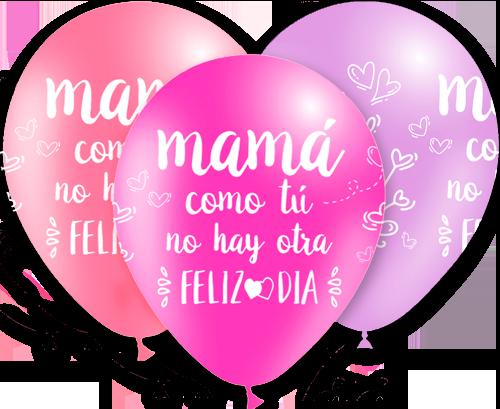 Globos de látex Día de la Madre tonos rosas