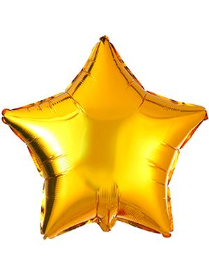 Globo metálico estrella Oro