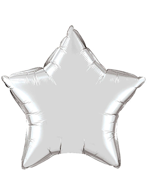 Globo metálico estrella Plata