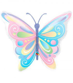 Globo metálico Mariposa pastel