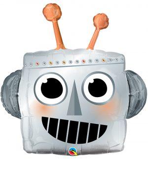 Globo metálico Robot