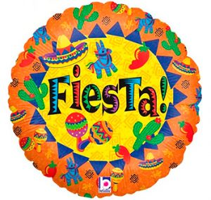 Globo metálico Fiesta
