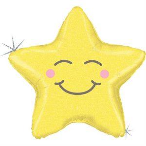 Globo metálico Estrella holográfica Chubby