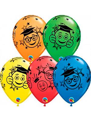 Globo látex Graduación Smileys