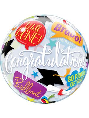 Globo Burbuja Graduation Idiomas