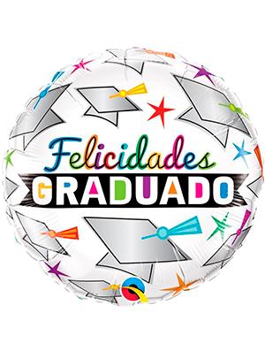 Globo foil Graduado texto color