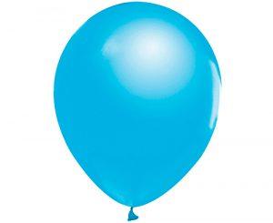 Globos de látex Azul claro metálico