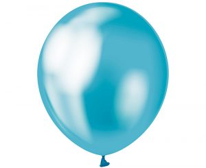 Globos de látex Azul platinum