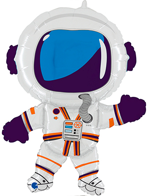 Globo metálico Astronauta