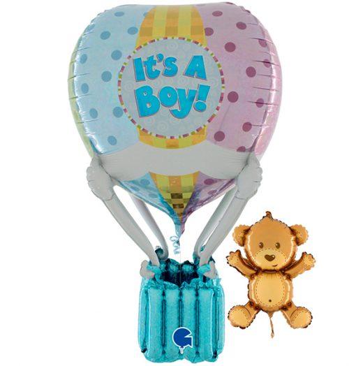 Globo aerostático foil bebé niño