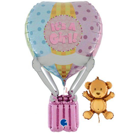 Globo aerostático foil bebé niña