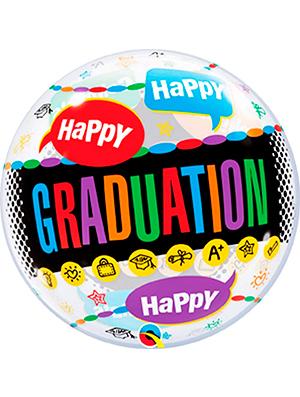 Globo burbuja Happy Graduation