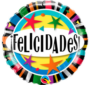 Globo metálico Felicidades