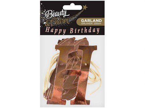 Guirnalda Happy Birthday Rose Gold