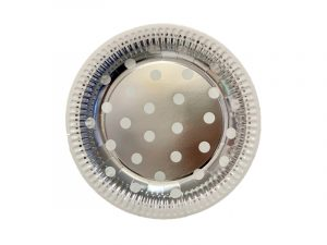 Platos lunares Plata 18cm