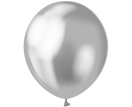 Globos de látex Plata platinum