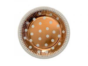 Platos lunares Rose Gold 23cm
