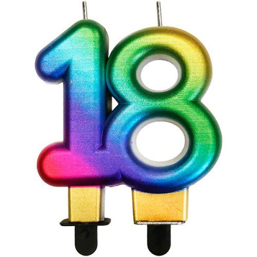 Velas cumpleaños 18 multicolor