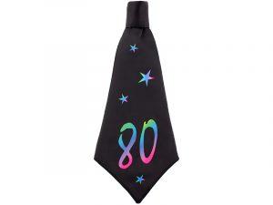 Corbata de cumpleaños 80