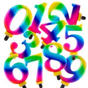 Velas cumpleaños Multicolor
