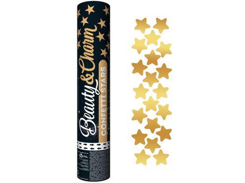 Cañón de Confeti Estrellas Doradas 30 cm