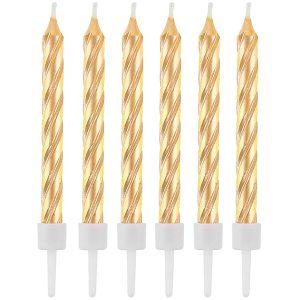 Velas de cumpleaños espiral oro