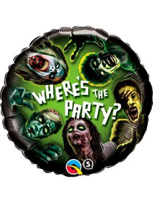 Globo metálico Zombies halloween